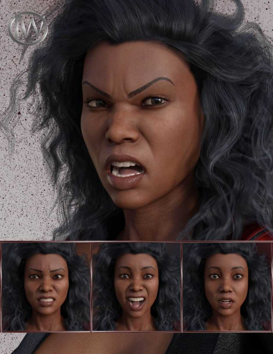 Just Attitude – Expressions for Genesis 8 Female and Latonya 8