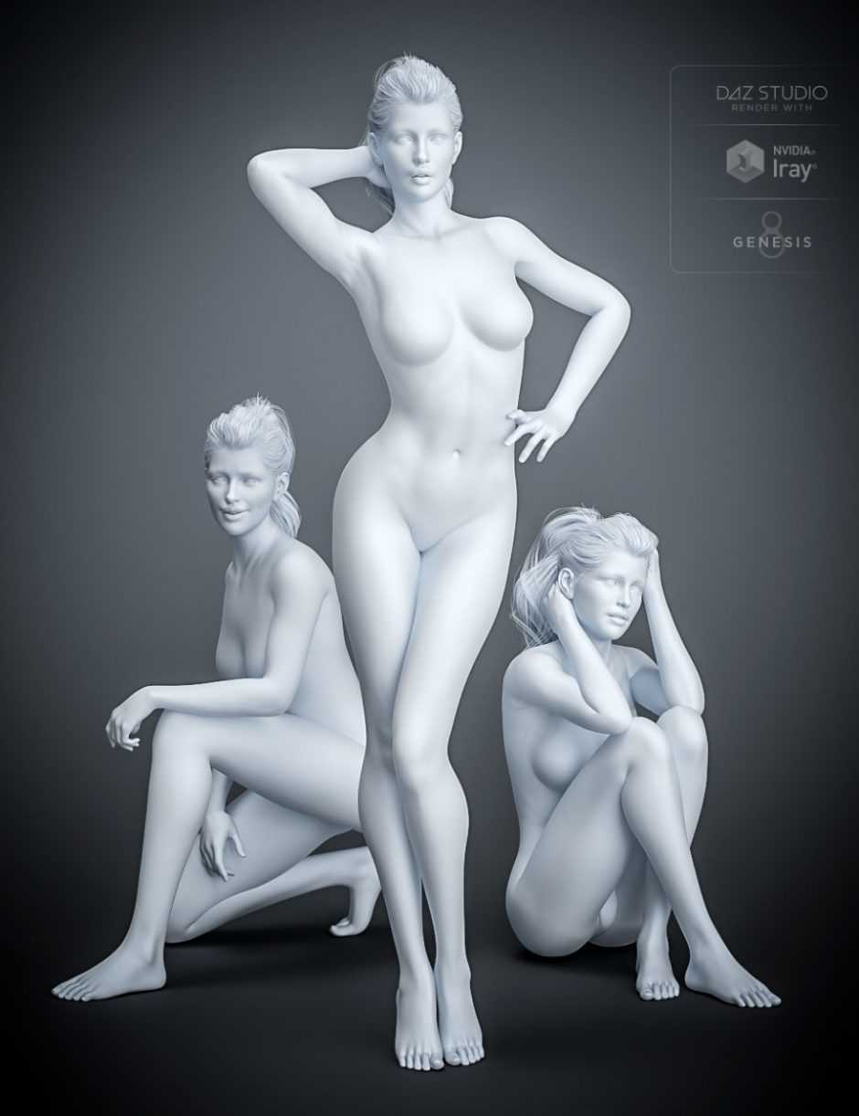 Model 101 Poses and Expressions for Genesis 8 Female(s)
