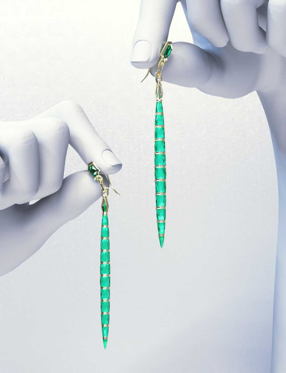 PTF Crystal Drop Earrings
