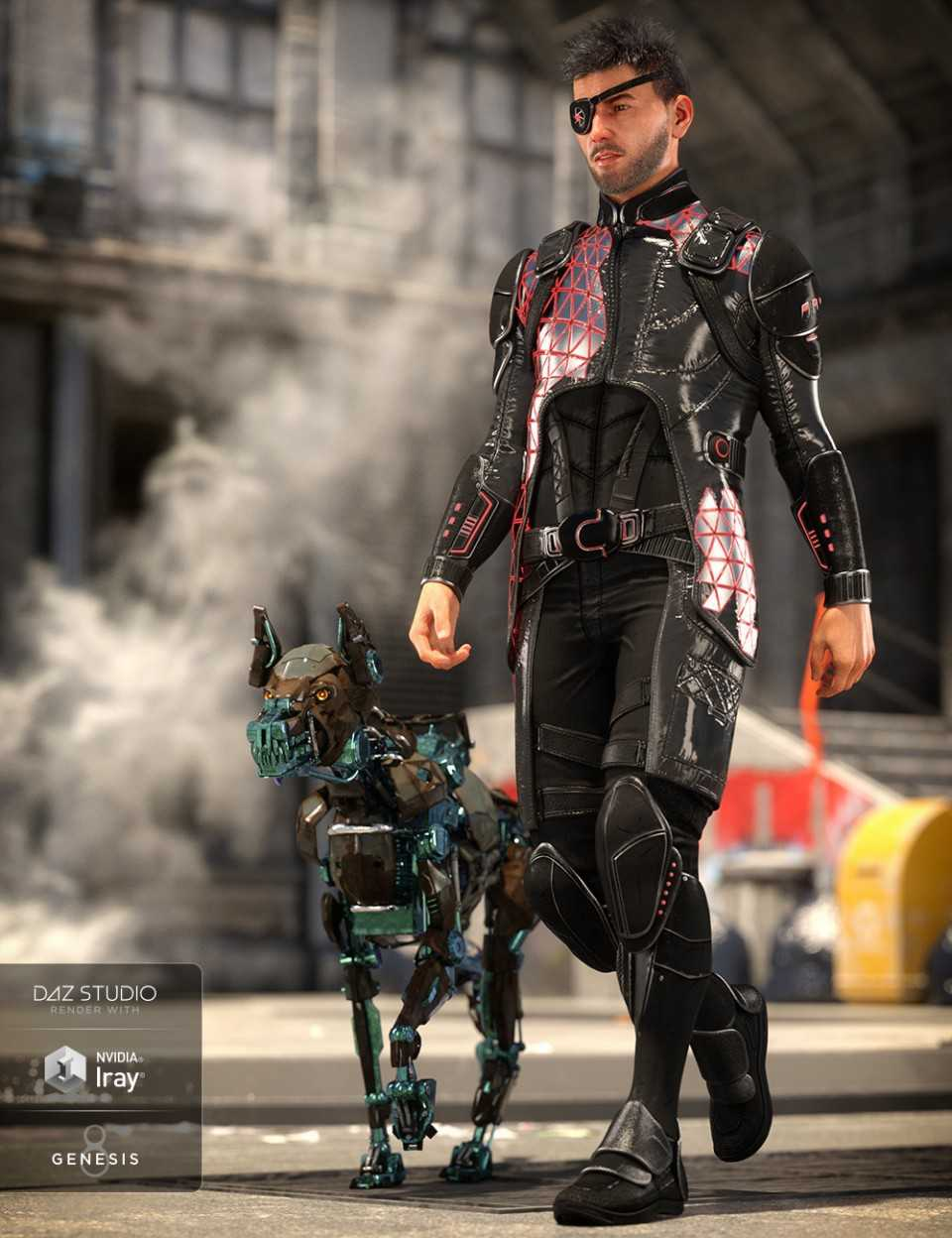 Space Pirate Outfit for Genesis 8 Male(s)