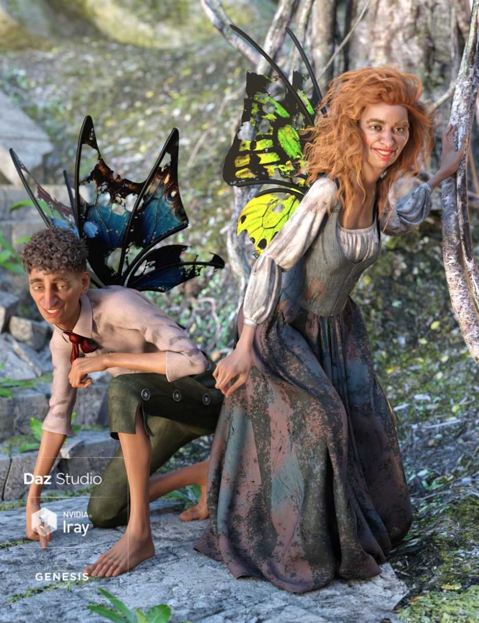 Sprig Fay Wings for Genesis 8 Male(s) & Female(s)