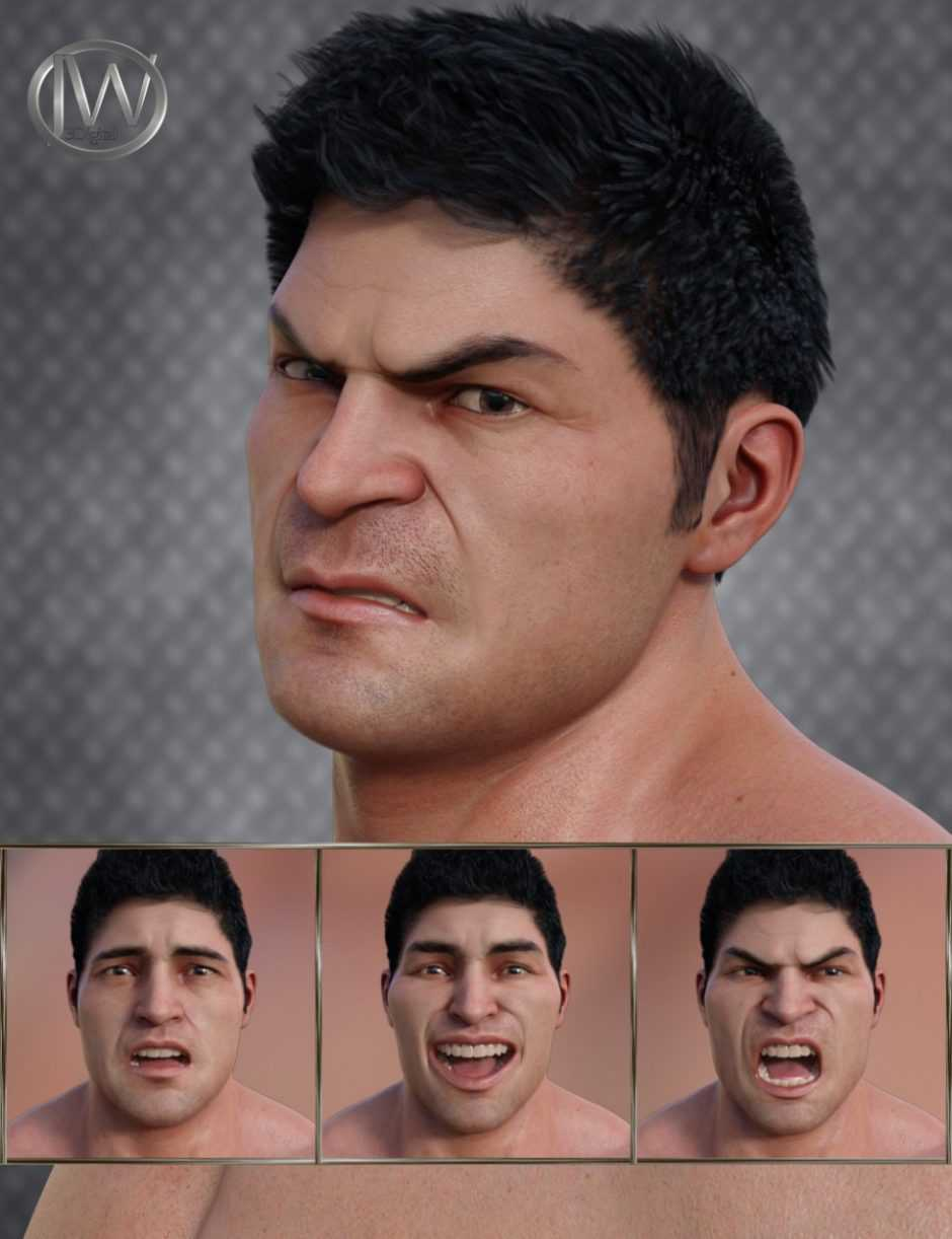 Strong Man – Expressions for Genesis 8 Male and The Brute 8