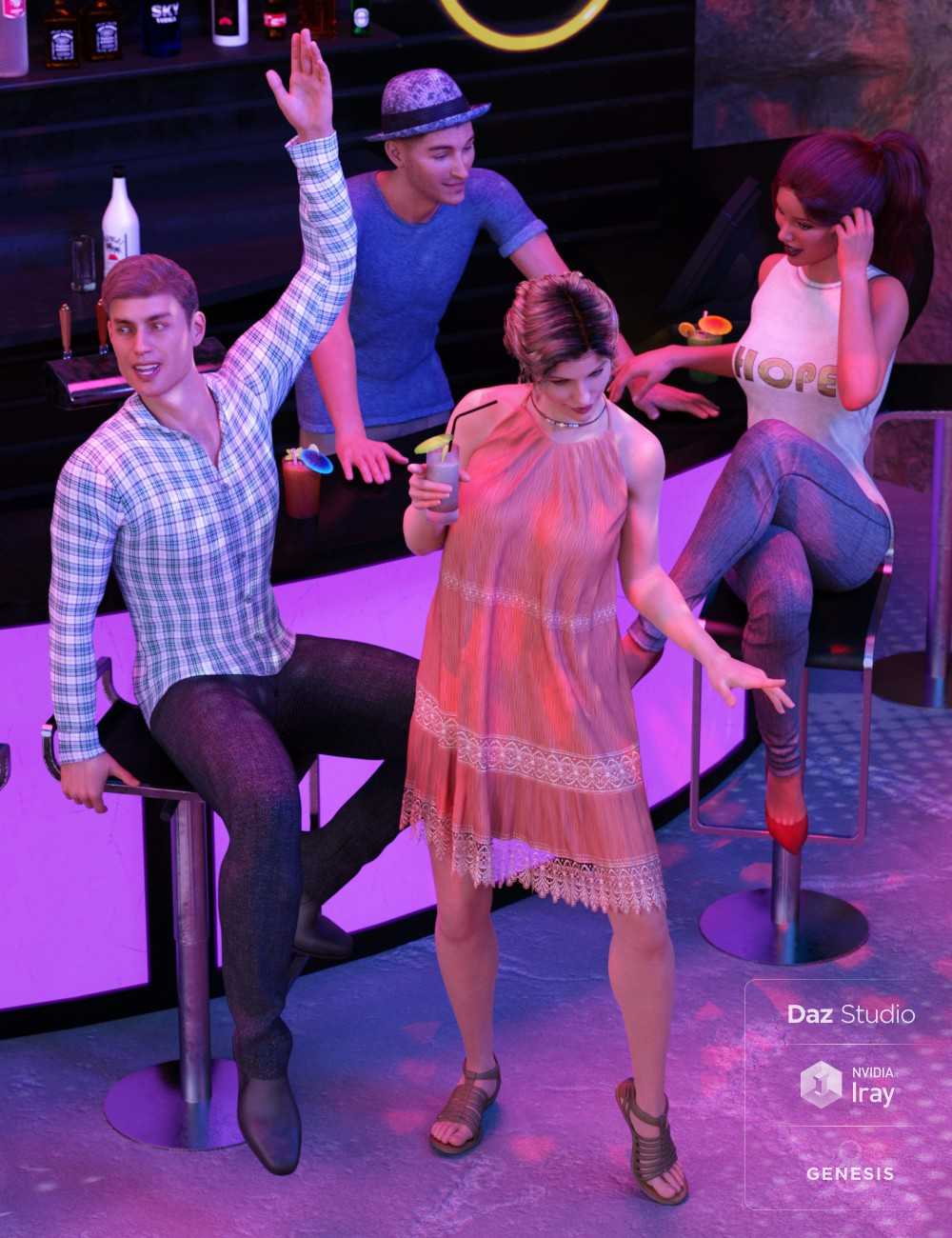 Underground Dance Club Poses and Expressions for Genesis 8